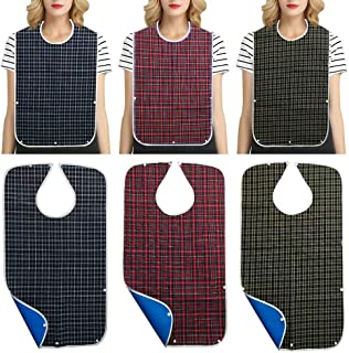 Adult Bibs for Eating 3 Pack Adult Bibs for Women and Man Clothing Protector