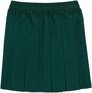 Girls Box Pleated All Round Elasticated Waist Skirt School Uniform Kids Skirt