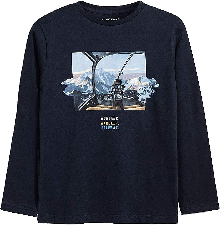 Mayoral - L/st-Shirt 'Wonder' for Boys - 7059, Deep Blue