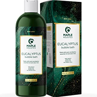 Eucalyptus Essential Oil Bubble Bath - Aromatherapy Essential Oils Bath Set for Natural Anxiety Relief + Aloe Vera and Vit...