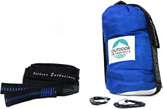 Outdoor Enthusiasts | Compact Travel Hammock— Everything Included in One Bag. Two 15 ft Straps (30 ft), Two Wire Gate Carabiners, Hammock Made for Two.