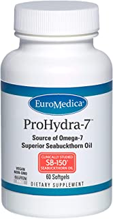 EuroMedica ProHydra-7-60 Softgels - Clinically-Studied Sea Buckthorn Oil Formula - Omega-7 Supplement with Essential Fatty...