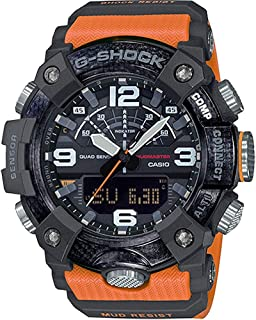 GGB100-1A9 Mudmaster Men's Watch Orange 55.4mm Carbon/Resin
