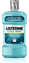 Listerine Cool Mint Antiseptic Mouthwash for Bad Breath, Plaque and Gingivitis, 1 l ( Pack of 3)