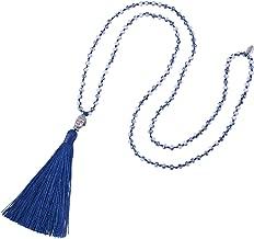 KELITCH Tassel Beads Necklace Buddha Strand Long Statement Jewelry for Women