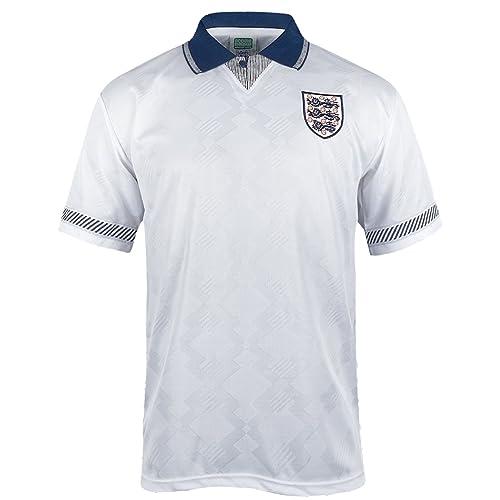 53638bc2b England Official Football Gift Mens 1990 World Cup Finals Home   Away Kit  Shirt