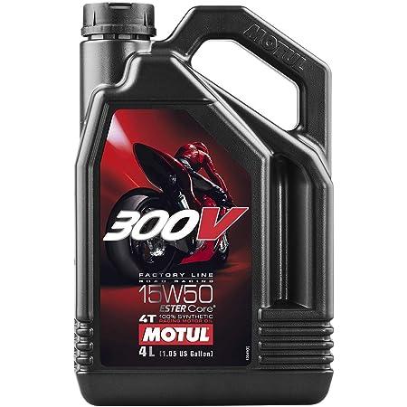 Motul 104129 300V Road Racing 15W-50 Motor Oil, 4-Liter