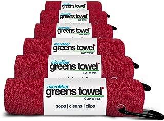 Greens Towel Microfiber (6 Pack), 16