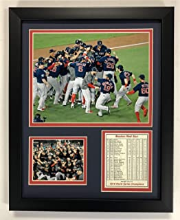 Legends Never Die MLB Boston Red Sox 2018 World Series Champions Framed Photo Collage, Celebration, 12 x 15-Inch