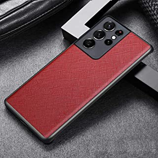 ThinkPro, Samsung Galaxy S21 Ultra 5G Premium Leather Case Cover with Camera Protector, Luxury Leather Phone Case, Soft TP...