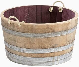 Original barril-macetero barreño con lazos - 70 cm de diámetro! barril cortado por la mitad