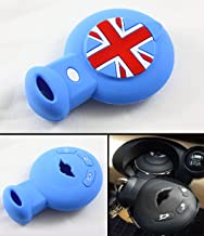 Cuztom Tuning Blue Union Jack Silicone Protective Case Cover Fits for 2008-2014 Mini Cooper Smart Car Key Fob