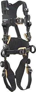 3M DBI-SALA ExoFit NEX 1113323 Full Body Arc Flash Harness, Back/Front Web Rescue Loops, Belt w/pad, PVC Coated Alum Side D-Rings, Locking QC Leg Straps, X-Large, Black