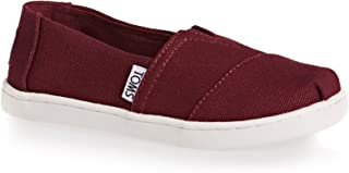 TOMS Kids Boy's Alpargata (Little Kid/Big Kid) Burgundy Canvas Shoe