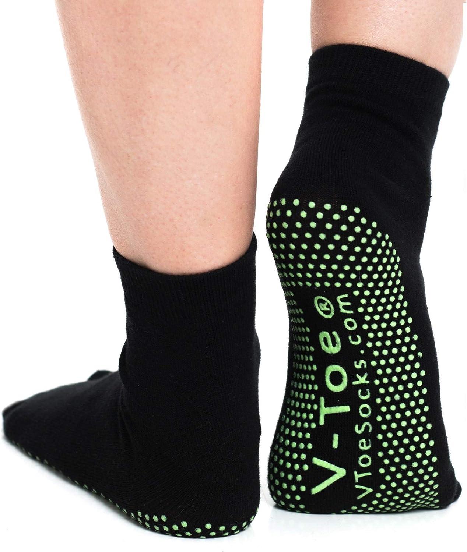 V-Toe Non Skid Tabi Socks Flip Flop Yoga Style Socks