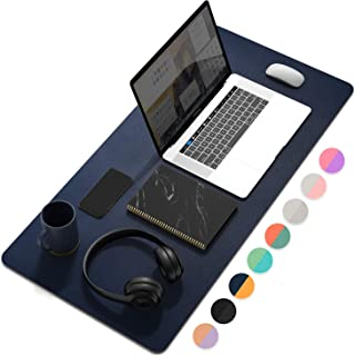 """YSAGi Bloc de bureau multifonction ultra mince étanche en cuir PU Tapis de souris pour bureau à domicile 31.5"""" x 15.7"""" noi..."""