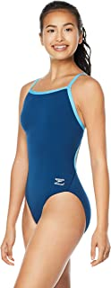 Speedo Women's Swimsuit One Piece Endurance+ Flyback Solid Adult Team Colors