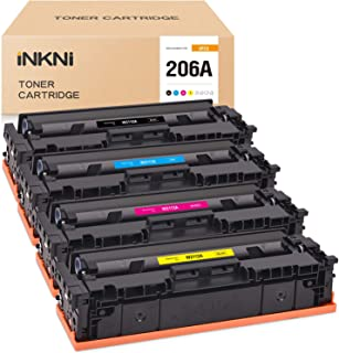INKNI Compatible Toner Cartridge Replacement for HP 206A 206 W2110A W2111A W2112A W2113A for Color Laserjet Pro M255dw Las...