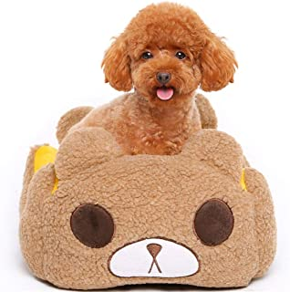 AIgouda Cute Bear Pet Dog Bed with Removable Cushion Waterproof Pet House Gift