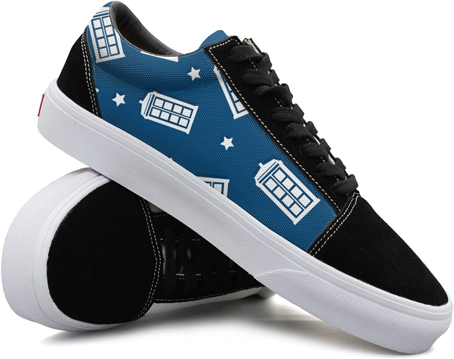 JDYHSGFR Cool Sneakers Police Box Pattern Casual Plate shoes