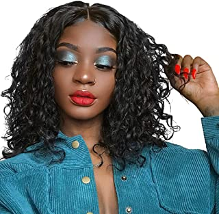 360 Lace Frontal Wig Deep Wave Human Hair Wigs Brazilian Virgin Hair Wig for Black Women 360 Lace Front Wigs Pre Plucked Natural Hairline with Baby Hair Wet and Wavy Wig 150% Density(10,Natural Color)