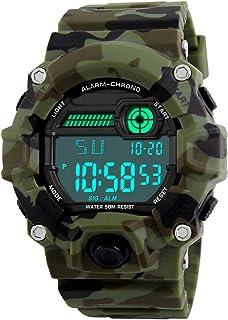 Orologi digitali per bambini, ragazzi sportivi Orologi militari con sveglia/timer, Bambini ragazzo 5 orologi impermeabili ...
