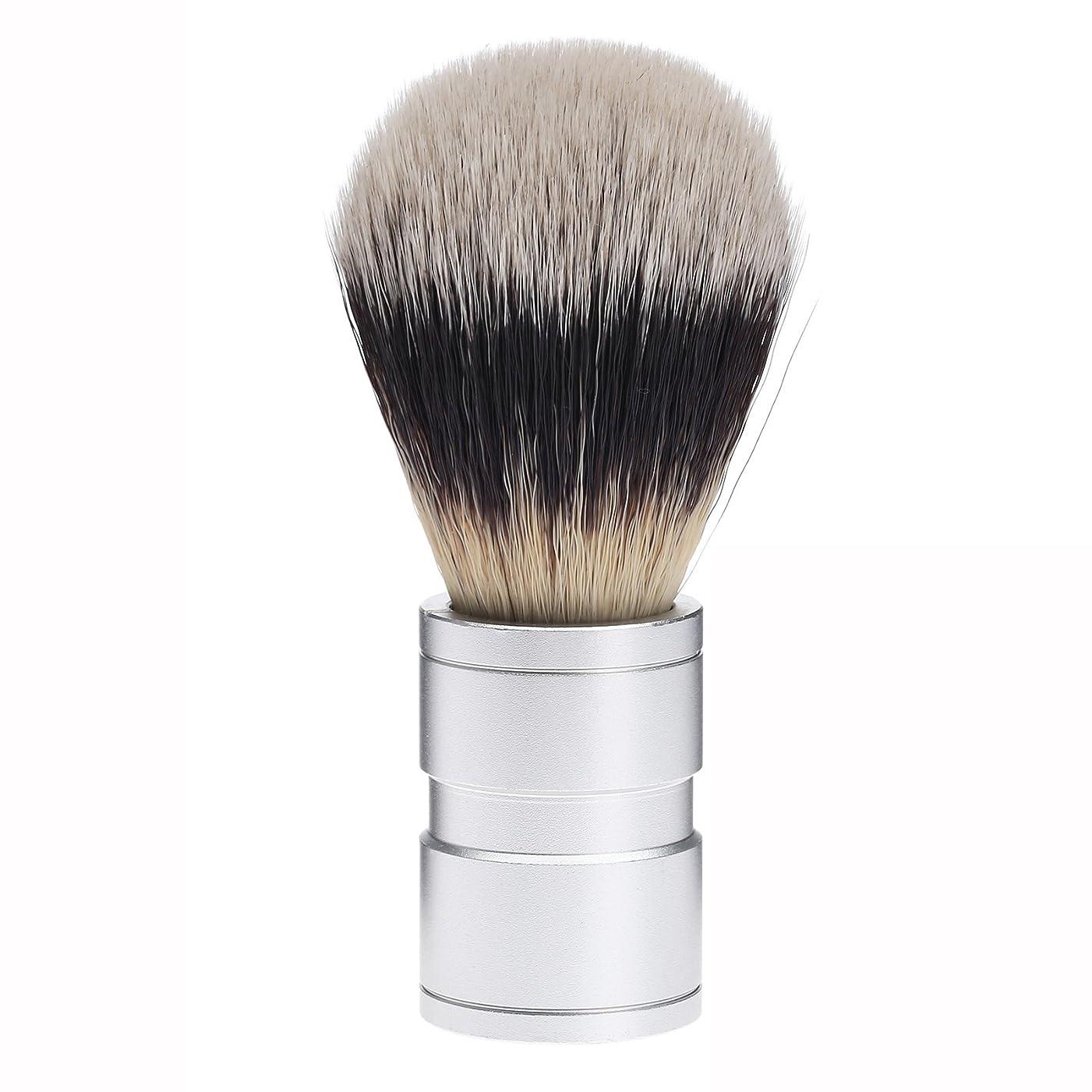 飼い慣らす解決する絶望Dophee  シェービング用ブラシ シェービングブラシ メンズ 洗顔ブラシ イミテーションアナグマ毛 ファイン模倣 理容 洗顔 髭剃り