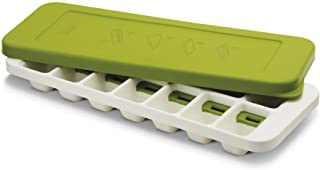 Joseph Joseph 20018 QuickSnap Ice Cube Tray with Cover Lid Easy-Release No-Spill Stackable Odor-Free Dishwasher Safe, Green