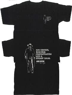 Licensed-John Wayne- Gun Control- T Shirt