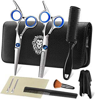 Professional Hair Cutting Scissors Set 9 Pcs Hairdressing Scissors Kit, Hair Cutting..