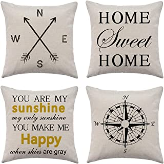 WFLOSUNVE Home Sweet Home Decorative Throw Pillow Covers 18