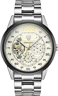 RORIOS Men Watches Automatic Mechanical Men Watch Fashion Chronograph Tourbillon Stainless Steel Band Luminous Wristwatch for Men