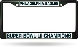 Rico Industries NFL Philadelphia Eagles Super Bowl LII Champs Laser Cut Colored Chrome License Plate Frame