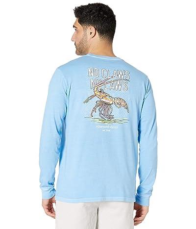 Vineyard Vines Long Sleeve Garment Dyed Lobster Pocket T-Shirt