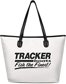 Spacious and Roomy Tote Bag for Women's Tracker-Boats-blacks-logo- Canvas Washable & Eco-Friendly Travel Large Tote Bag