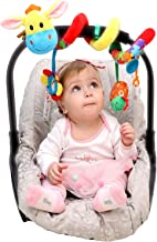 Carseat Toys for Infants Boys Girls - Stroller Toy - Car Seat Toy - Crib Toy - Spiral Baby Hanging Activity Toys
