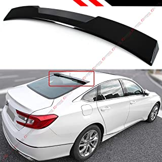Cuztom Tuning Fits for 2018 Honda Accord 10TH Gen Sedan VIP Glossy Black Rear Window Roof Spoiler