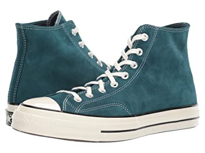 Converse Chuck 70 Suede Hi (Midnight Turquoise/Black/Egret) Shoes