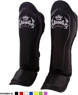 Top King Muay Thai Shin Guards TKSGEM 01 SV Shin Guards Empower Creativity M L XL Black Silver Size Shin Pads//Shin Protection for Muay Thai Kick Boxing MMA K1