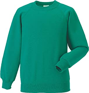 Russell Mens Classic Raglan Sleeves Stylish Polycotton Sweatshirt XS-4XL 295gm