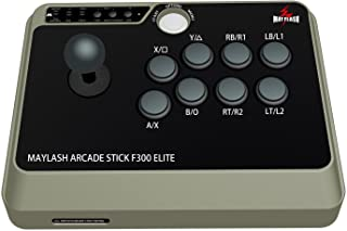 Mayflash アーケードスティック F300 Elite PS4/PS3/NEOGEO mini/XBOX ONE/XBOX 360/PC/Android/Switch対応 [日本正規品]
