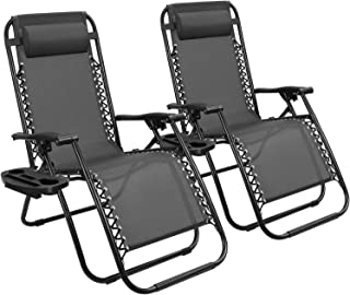 Devoko Patio Zero Gravity Chair Outdoor Free Folding Adjustable Chaise Lounge Chairs Beach Pool Side Using Reclining with ...
