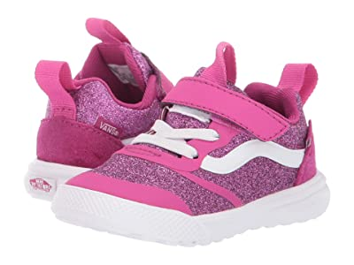 Vans Kids UltraRange Rapidweld (Infant/Toddler) ((Glitter Textile) Pink/True White) Girl