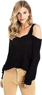 Wish List Women's Juniors Open Cold Shoulder Longsleeve Knit Sweater
