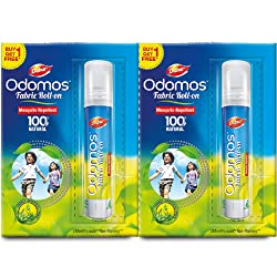 Odomos Fabric Roll Mosquito Repellent On - 8 ml (Buy 1 get 1)