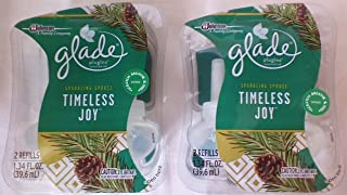 4 Glade Timeless Joy Sparkling Spruce Scented Oil Refill Limited Edition 2 Packs