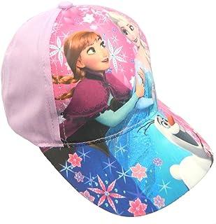 IMTD Girls Disney Frozen Movie Princess Elsa Anna Sisters Design Cap Hat Velcro Adjustable Back Cap