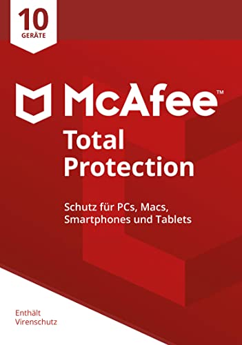 McAfee Total Protection | 10 Geräte | Online Code | Monatliches Abo