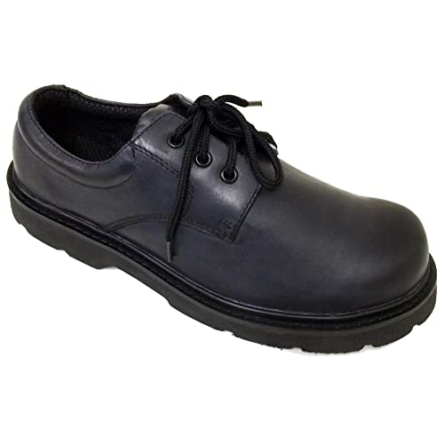 b52f5fdc83f08 Brahma Men's Oxford Boots Black Lace up Comfort Work Shoes Oil Resistant