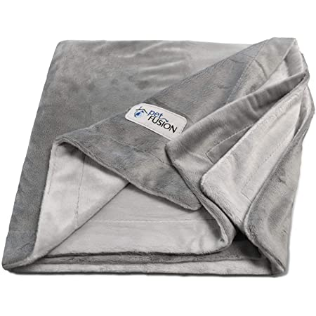 PetFusion Premium Dog Blanket, Cat Blanket. Ultra Soft Pet Blanket Available in 2 Styles (Plush, Quilted) & 2 Colors (Grey, Brown). Perfect Blanket for Small Dogs & Large Dogs. 12 Month Warranty